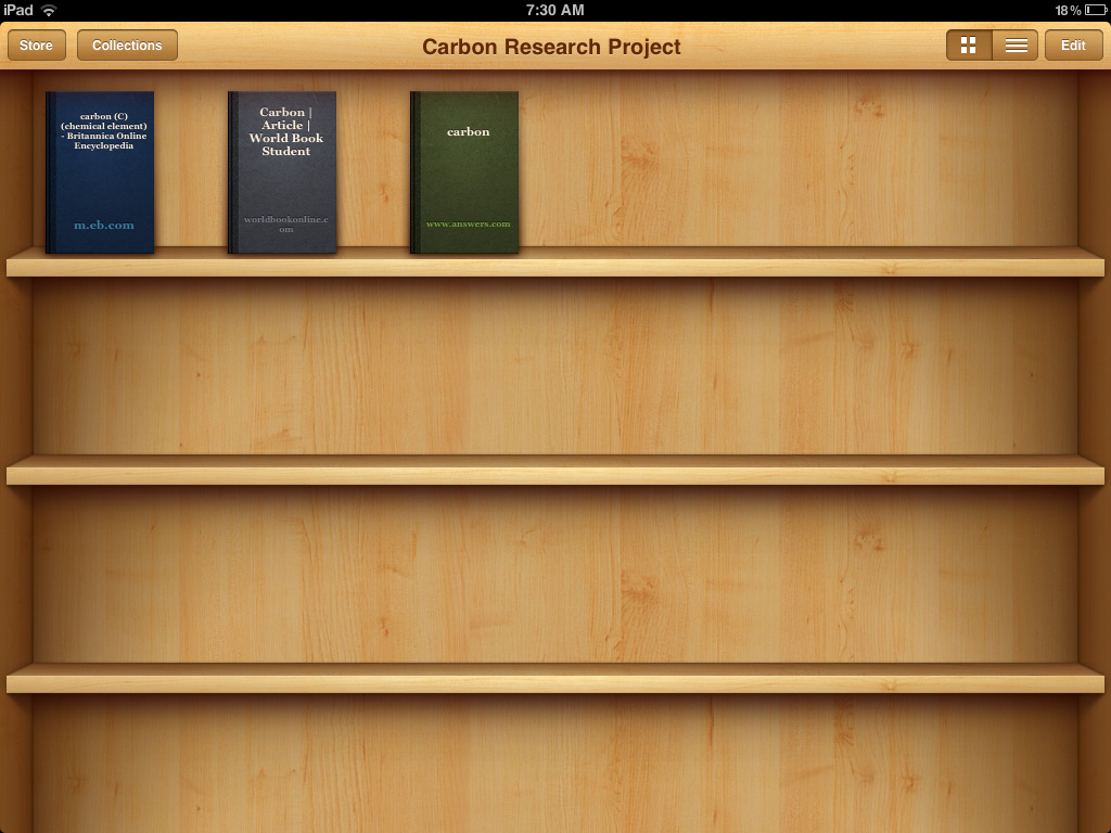 Sample iBooks Colletion